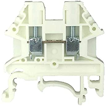 Dinkle White DK2 5N-WE DIN Rail Terminal Block Screw Type UL 600V 20A  12-22AWG, Pack of 100
