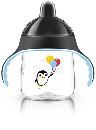 Philips Avent My Penguin Sippy Cup, Black, 9 Ounce, Stage 2