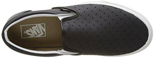 Vans Ua Classic Slip-On, Zapatillas para Hombre Negro (Leather Perf)