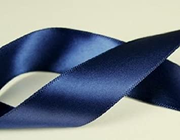 Blue Ribbon Double-Faced Schiff Williamsburg Blue Satin Ribbon 38 inch wide x 10 yards