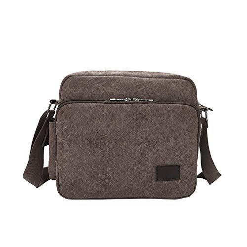 Marron En Pocket Sac Multiple Toile Bandoulière Vintage Pour Style Simple Casual À De Sacs Multifonctionnel Homme pZ6wwAXRxq