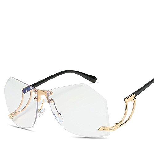 gafas gafas y del sol sol Aoligei de moda lentes de B de definición de alta de europeos de de Remaches sol las hombres los de metal americanos gafas irregulares q7H6q