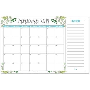 floral 2019 2020 large monthly desk or wall calendar planner big giant planning. Black Bedroom Furniture Sets. Home Design Ideas