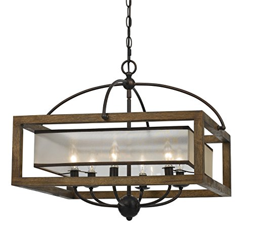 Cal Lighting FX-3536/6, 24x24x20, Dark Bronze/Stained Reddish Brown