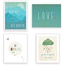 """Children Inspire Design Happiness Collection Prints, 8"""" x 10"""", Set of 4"""
