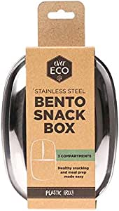 Ever Eco Plastic Free Eco Friendly Stainless Steel Bento Snack Box 3 Compartment