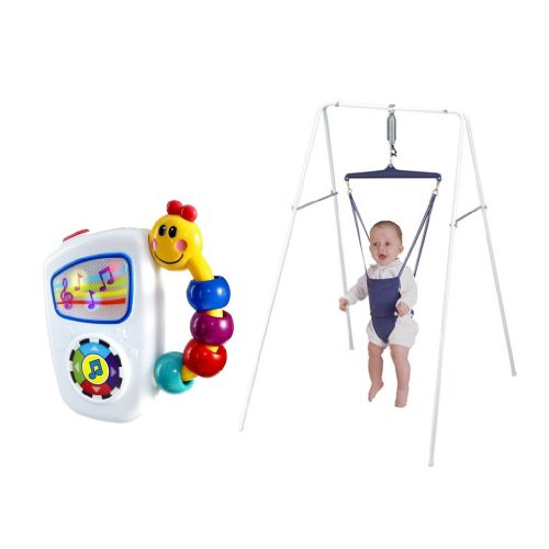 Jolly Jumper Exerciser With Stand with Baby Einstein Take A Long Tunes
