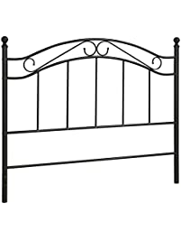 bed headboard fits full or queen bed frames by mainstays black