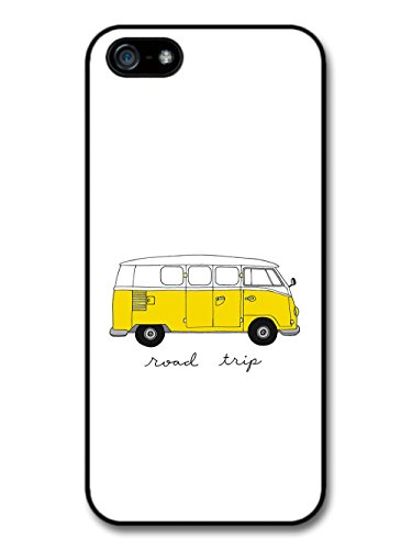 New Cool Yellow Hippy Campervan Hipster illustration Design coque pour iPhone 5 5S