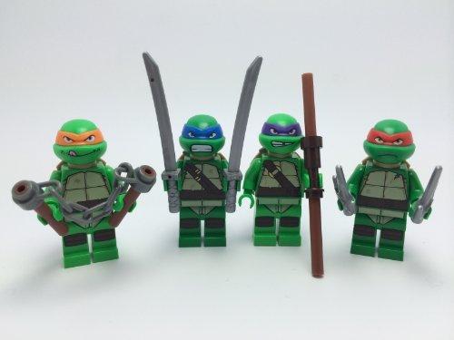 LEGO Teenage Mutant Ninja Turtles TMNT Complete Set of 4 Minifigures: Michelangelo, Donatello, Leonardo, and Raphael