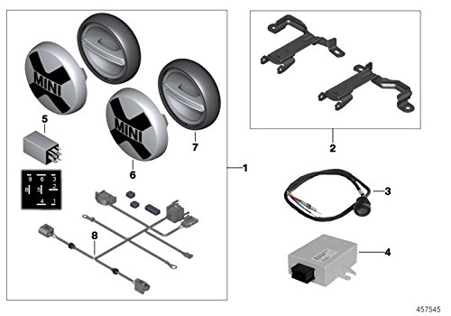 MINI Genuine Additional Headlight Headlamp Bracket F55 F56 F57 63122355766