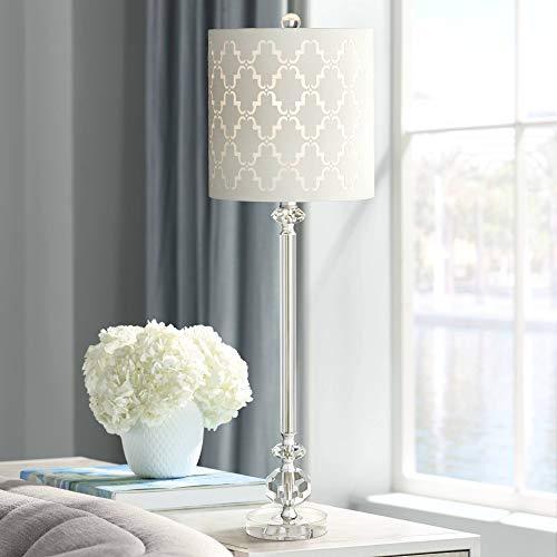 (Samantha Crystal Column Table Lamp - Vienna Full Spectrum)