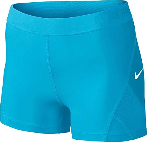 Nike Women's Pro 3'' Training Shorts (Small, Blue(831982-447)/White) by Nike (Image #2)