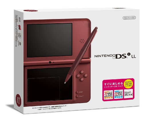 Nintendo DSi LL Portable Video Game Console - Wine Red - Japanese Version (only plays Japanese version DSi games) (Dsi Console Red)