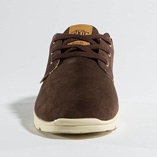 Djinns Herren Schuhe/Sneaker Mid LAU Light Suede Braun