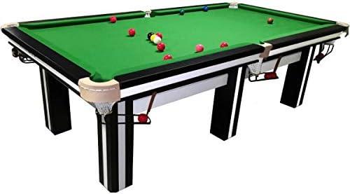 Buckshot Cambridge - Mesa de billar (244 x 132 cm, superficie de pizarra de 36 mm, 450 kg), color blanco y negro: Amazon.es: Deportes y aire libre