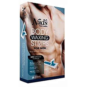 Nad's for Men Body Waxing Strips 20 ea (Pack of 2)