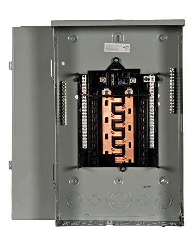 (Siemens 16 Space, 24, Circuit, 100 Amp, Main Breaker, Outdoor Load Center, Copper Bus Bars)