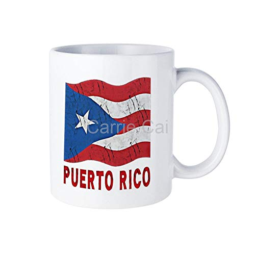 Puerto Rico Flag Puerto Rican RetroMug Coffee Cup Teacup Ceramic Cup Couple Cup Restaurant Dessert Shop Cafe Home Mug