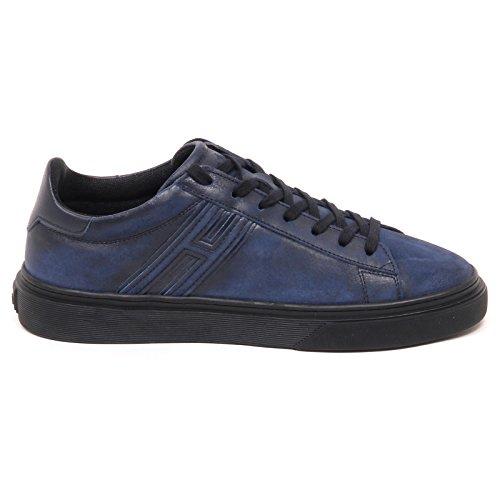 Hogan E0628 Sneaker Uomo Nero/Blu H340 Shoe Man Blu/Nero