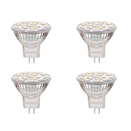 EKSAVE mr11 3W MR11 LED Bulb GU4.0, Warm White 3000K,Not Dimmable, Recessed Lighting,Track Lighting,Spotlight,LED Light,Pack of 4