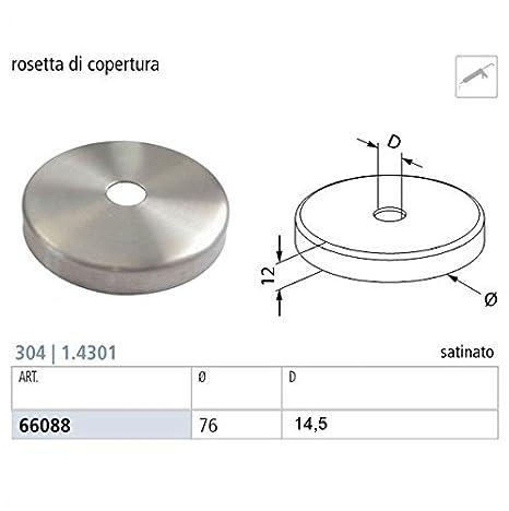 Forniture Zambon Support en anneau pour rampe livr/é avec rondelle et vis pour linstallation en acier inoxydable AISI 304