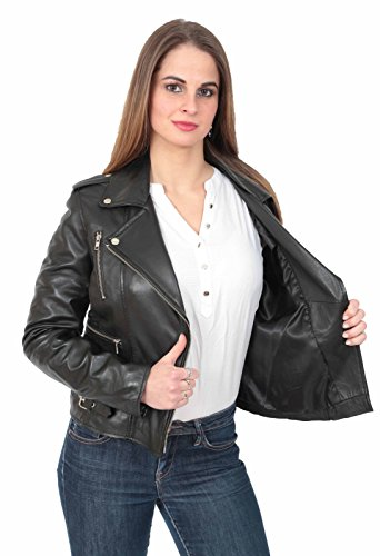 Fashion Goods Femme Manches A1 Blouson Noir Longues WgRqaWASw
