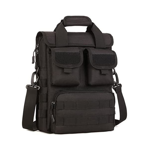 Tactical Briefcase Purse Molle Webbing Engineers Tool Handbag Messenger Bag