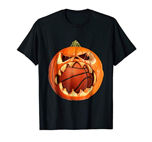 Pumpkin Eating Basketball Halloween Costume Shirt