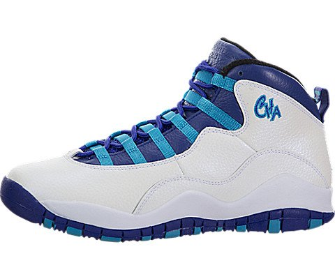 Jordan Big Kids Air Retro 10 (White/Concord-Blue Lagoon-Black) Size 6.0 US by Jordan
