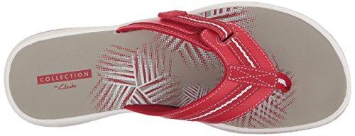 Clarks Women's Brinkley Jazz Flip-Flop Red Synthetic sBtIvWa