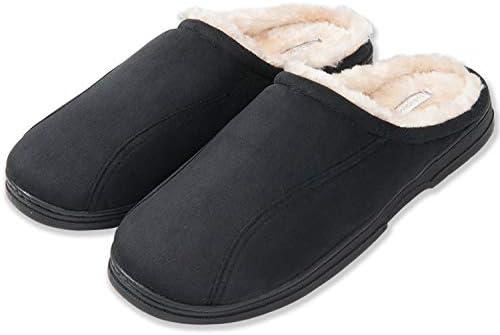 KushyShoo Mens Slippers, Indoor Outdoor