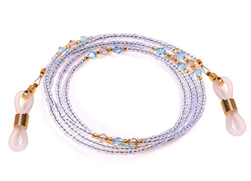 Bead Eyeglass Chain - Sunglasses Cord Neck Strap Holder (Lilac Blue) by PP Show