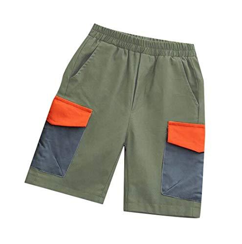 Hajotrawa Men Harem Active Casual Elastic Waist Spell Color Jogging Pants