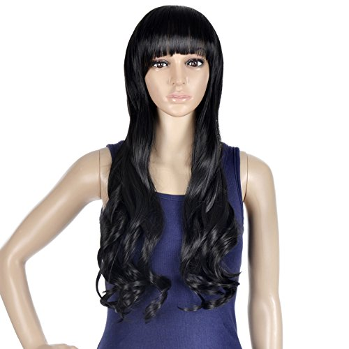 EPYA Women's Wigs Long Curly Full Hair Cosplay Costume Wig