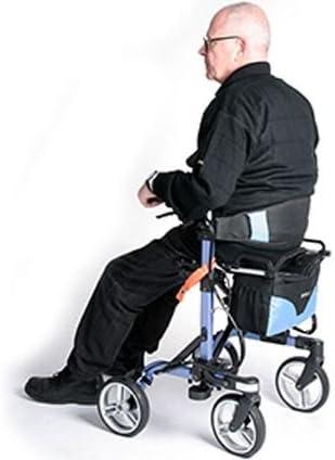 Amazon.com: Andador plegable Move-x con Deluxe 4-Wheel ...