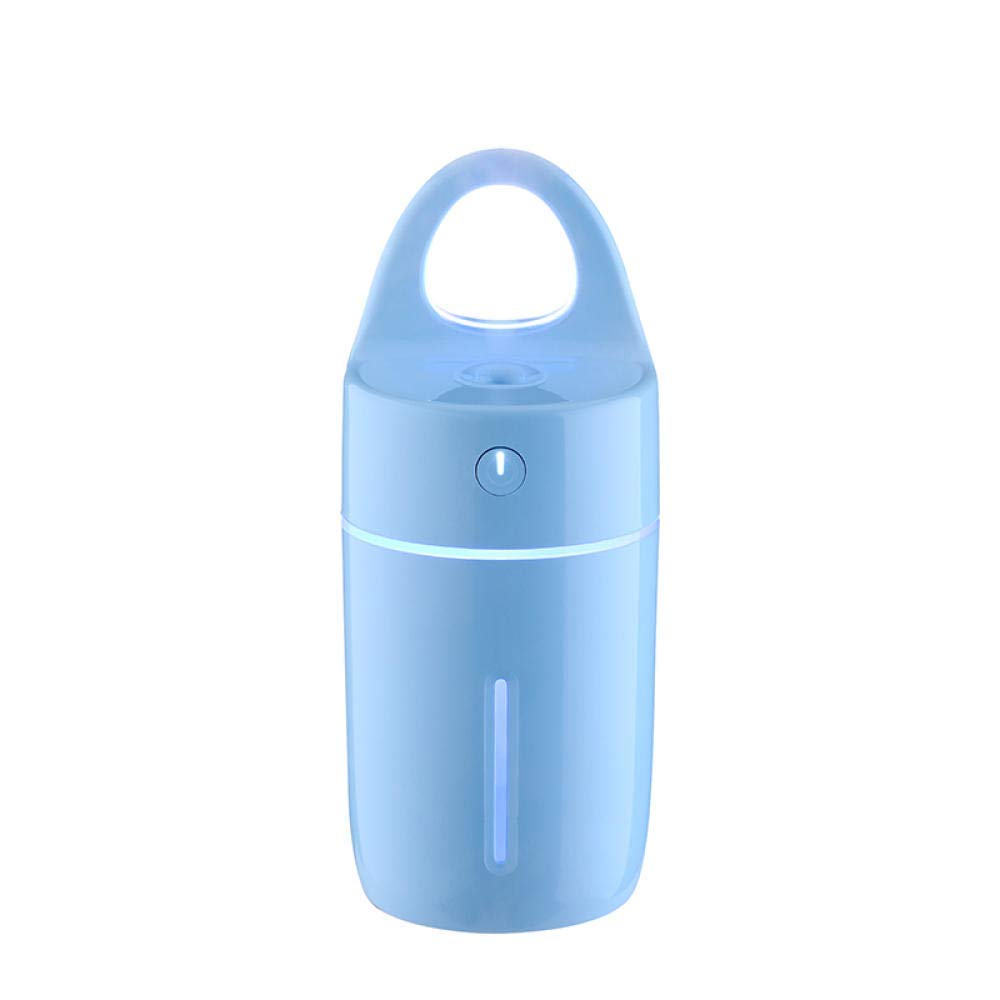 QSCA 180Ml Essential Oil Diffuser for Aromatherapy Magic Cup Humidifier Color Night Light USB Air Aroma Purifier Bedroom, Car, Office- Blue