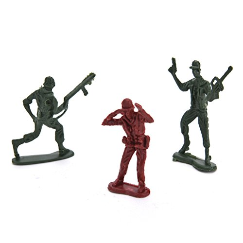 Ensunpal 307 Pcs/Set Army Soldier Toy Kits, World War II Soldiers Toy Set with Hand Bag Plastic Solider Figures Grenade Tank Aircraft Rocket Army Men Sand Scene Model by Ensunpal (Image #7)