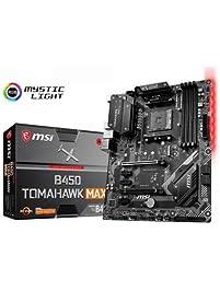 MSI Arsenal Gaming AMD Ryzen 2ND and 3rd Gen AM4 M.2 USB 3 DDR4 DVI HDMI Crossfire ATX Motherboard (B450 Tomahawk Max)