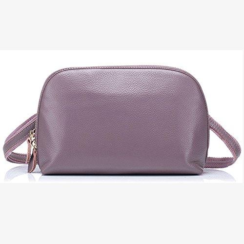 Mefly La Primera Capa De La Moda Mujer Sola Bolso Bolso Shell Bolso De Cuero Púrpura Lotus Purple lotus