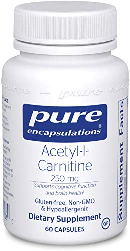 Pure Encapsulations - Acetyl-l-Carnitine 250 mg - Hypoallergenic Supplement to Promote Memory and Attention - 60 Capsules