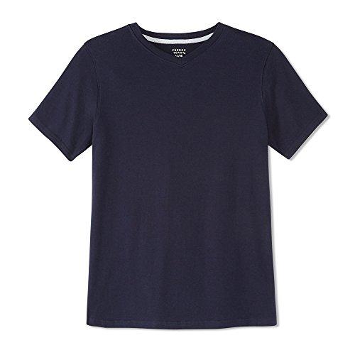 French Toast Little Boys' Short Sleeve V-Neck Tee, Navy, - Cut Tee Shirts