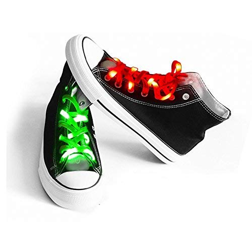 AYAMAYA 2 Pairs LED Nylon Shoelaces Light Up