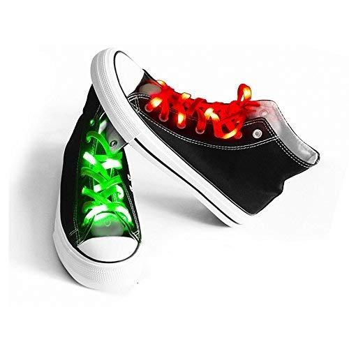 AYAMAYA 2 Pairs LED Nylon Shoelaces Light Up Shoe Laces with 3 Flashing Modes Lighting The Night Party Disco Dancing Cycling Hiking Running]()