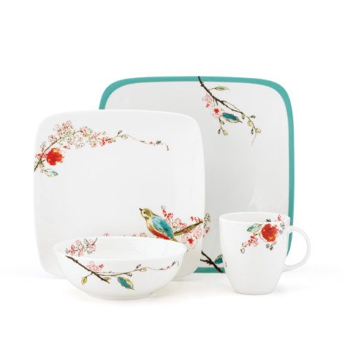 Lenox Simply Fine Chirp Square 4-Piece Place Setting, Service for One