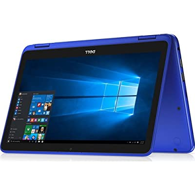 Dell 2-in-1 Convertible Inspiron Flagship High Performance 11.6 inch HD Touchscreen Laptop PC, Intel Core m3 6Y30 Dual-Core, 4GB RAM, 500GB HDD, Bluetooth, WIFI, Webcam, Windows 10, Blue