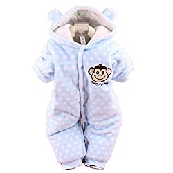 [FBA GET IT SOON]WantDo Baby Toddler Cotton Long Sleeve Jumpsuit Front Button