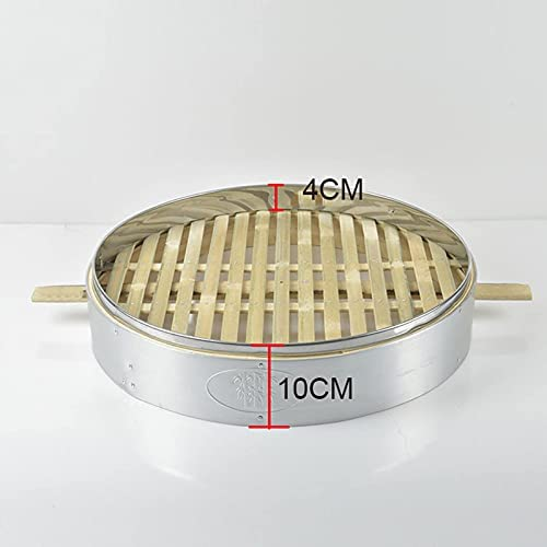 41gje4zmtsS. AC DFBGL Bamboo Steamer, Chinese Food Steamer Basket, Bao Buns, Dumplings and Vegetables Steam Basket, Cooking Food Cooker, 2 Tier & Lid    Bamboo steamer is the perfect size for home use because it fits most woks and pans. Steaming food is one of the healthiest ways of cooking. Steaming is gentle and seals in the foods flavour and nutrients. It is ideal for cooking food which has delicate taste and texture such as fish and vegetables.Specifications:Type: Bamboo SteamerMaterial: bamboo+stainless steelOutside diameter of the steamer: 52cm;Outside height of single cage: 10cmBe applicable: Easily Steam Dim Sum, Vegetables, Rice, and MeatsPackage Included:3* steamer & 1*lid?~? TipsBamboo products should be dried in time after washing, because the environment is humid, which is not a product quality problem!Due to the difference in light, shooting angle and resolution, the photos you see are slightly different from the actual objects, please understand.Our products are measured manually, there will be slight differences from the actual items, please understand.Bamboo steamers are not made to be placed in an oven or a microwave. And not suitable for dishwasher.After use: After steaming, the grease must be cleaned. If you don't use it frequently or for a long time, you can clean it and blanch the steamer with boiling water, and dry it in the vent (it can be left for a few more days until it is dry in humid weather) .Multi-layer design - The bamboo steamer with 3-layer steamer can steam different kinds of food at the same time, which can save a lot of time and play a bigger role in the kitchen to make your meal more abundant.Healthy cooking - steaming allows your food to retain more of their nutrients making them taste better and better for you. Also helps you to avoid the fats found olive, vegetable or canola oils.Safe material-The steamer is made of bamboo material, stainless steel edging, environmentally friendly, durable, non-toxic, good heat resistance, ca