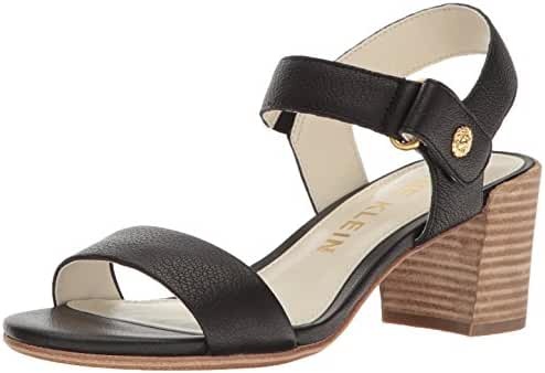 Anne Klein Women's Jackie Leather Heeled Sandal