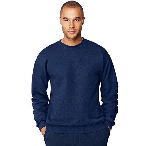 Hanes Men's Ultimate Cotton Heavyweight Crewneck Sweatshirt_Navy_XL